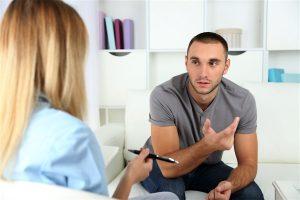 dr talking to patient lyme disease treatment